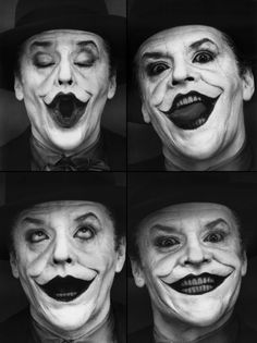 Jack Nicholson as the Joker from Tim Burton's Batman. Classic.