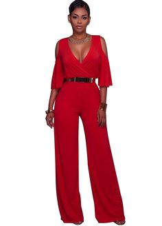 Odilia Cut-Out Shoulders Jumpsuit_Jumpsuit & Rompers_Women Clothes_Sexy Lingeire | Cheap Plus Size Lingerie At Wholesale Price | Feelovely.com