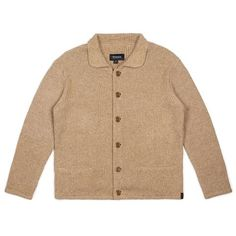 6feb8859c6e Brixton Powell CardiganNatural Fleece Sweater, Purl Stitch, Mens Fashion  Casual Wear, Fashion Outfits