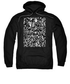 purchase a hoodie sweatshirt featuring the image of monochrome of cliff stonework by joan
