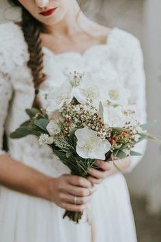 Intimate Edgy Winter Wedding Inspiration