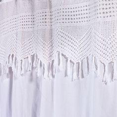 Vintage Crochet Shower Curtain