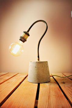 Homemade Concrete lamp #ConcreteLamp