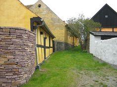 Half-timbered houses in Svaneke, Bornholm,