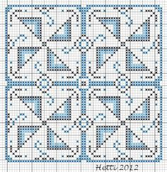 Creative Workshops from Hetti: SAL Delfts Blauwe Tegels,Deel 3 - SAL Delft Blue Tiles, Part Expanded Tile 3 Cross Stitching, Cross Stitch Embroidery, Embroidery Patterns, Cross Stitch Patterns, Delft, Minecraft Pattern, Graph Paper Art, Creative Workshop, Blue Tiles