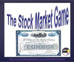 Stock Market Simulation Game (U. History) This is a great fun and interactive game to play with your secondary U. History students when studyi. Social Studies Classroom, History Classroom, Teaching Social Studies, Teaching Us History, History Lesson Plans, Forex Trading Tips, Great Depression, Business Education, Financial Literacy