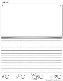 FREE! The best little kindergarten writing paper you've ever seen!