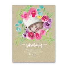 Posie Shine - Photo Birth Announcement - Baby