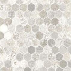 Sheet Vinyl That Looks Like Hexagonal Tile From Linoleum