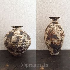 """Clay Up ( before/ after)"" Ceramic vases, Nikkaido Akihiro 「陶アップ、(前/後)」 花器、二階堂明弘 #pragmata"
