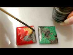 tutorial pebeo prisme fantasy per ciondoli bijoux - YouTube