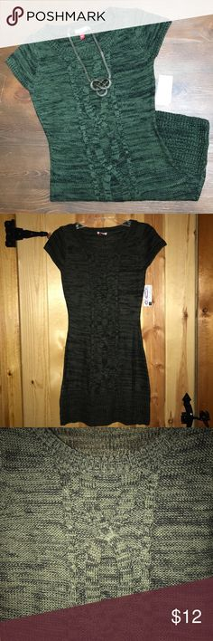 Cozy, lei sweater dress. Cozy, warm sweater dress! Black leggings and boots would make this look complete. The true color is the close up picture. Brand new with tags! lei Dresses Mini