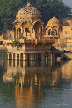 Утро на Gadisar озера Джайсалмер, Раджастан, Индия - Любимый Photoz