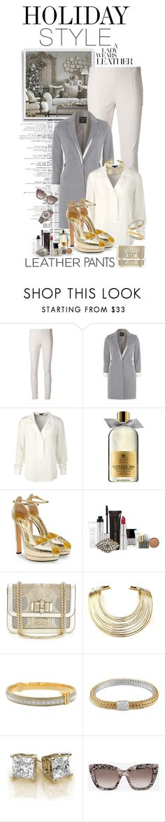 """""""Holiday Style: Leather Pants"""" by shortyluv718 ❤ liked on Polyvore featuring KaufmanFranco, Dorothy Perkins, ESCADA, Molton Brown, Alexander McQueen, Christian Louboutin, Bisjoux, Sterling Essentials, John Hardy and Stührling"""
