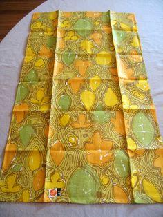 Groovy Vera orange and green. MWT.  Vtg kitchen or by fuzzandfu, $34.00
