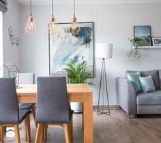 Aranżacja salonu z aneksem kuchennym - Salon, styl skandynawski - zdjęcie od Nowe4Ściany