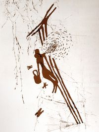 evidence of pre-historic honey hunting: cave painting (spain)