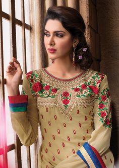 Party Wear Semi Stitched Anarkali Salwar Suit