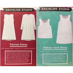 We have the new #farrowdress pattern from #grainlinestudio now in the shop. We also restocked the very popular #willowtankdress pattern. #momenplusfabric #momenpluswillowtankdress,momenplus,grainlinestudio,momenplusfabric,farrowdressmomenplusfabric