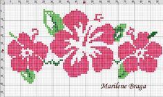 cross stitch hibiscus   aloha Hawaiian cross stitch pattern