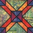 Stained Glass Yard Line Quilt Block Pattern