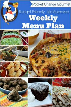 Budget Friendly Weekly Menu Plan on PocketChangeGourmet.com