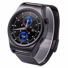 2016x10 satt abgerundete smart watch suppors theart rate monitor bluetooth 4,0 echt leder smartwatch unterstützt arabisch türkisch //Price: $US $59.84 & FREE Shipping //     #smartuhren