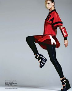 Session Sport: Flavia Lucini By Jacob Sadrak For Marie Claire France May 2014
