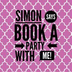 Simon Says game: book a party. #ThirtyOne #ThirtyOneGifts #31Party…