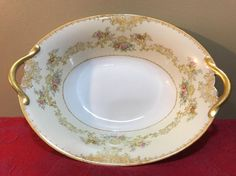 Noritake Mystery #35 Circa 1918 Handpainted Vegetable Bowl by MercedesAtticShop on Etsy