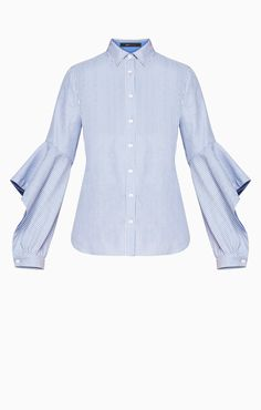 Thelma Ruffled-Sleeve Shirt