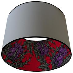 Timorous Beasties Lampshades - Grand Thistle.  Wish they had an image of what it looks like with a light on inside...