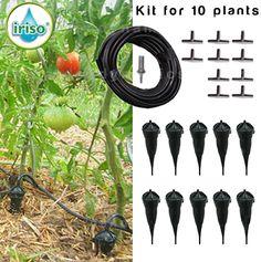 Iriso Drip Feed Watering Irrigation Kit 10 Piece