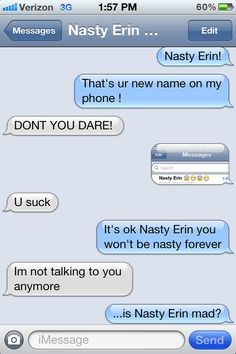 Nasty Erin!
