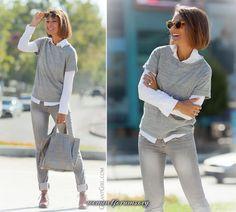galant girl Белая рубашка + джинсы