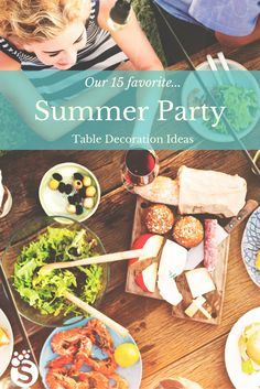 A list of 15 hot summer party table decoration ideas. Lots of easy, breezy ideas in this list. #summer #party #friends #cocktails #cookouts #table #inspiration #DIY #snappening