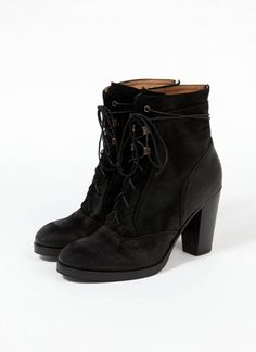 cute black booties <3