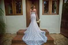 Beautiful wedding dress design #WeddingDress #BeachWeddingDress #VisitMexico