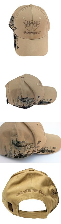 Hats and Headwear 159035: Dri Duck-Grumpyfrogs Outdoor, Custom Embroidered Fishing Ball Cap. -> BUY IT NOW ONLY: $39.95 on eBay!