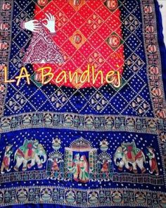 Bandhani Saree, Silk Sarees, Embroidery Saree, Hand Embroidery, Japanese Yen, End Of Season Sale, Folk Art, Delicate, Vibrant
