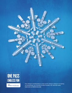 Silver Star Mountain Resort: Blue | #ads #marketing #creative #werbung #print #poster #advertising #campaign < repinned by www.BlickeDeeler.de | Follow us on www.facebook.com/blickedeeler