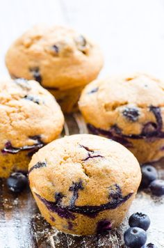 Healthy Blueberry Muffins -