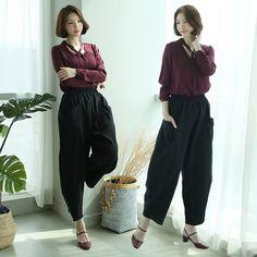 쿠팡!   맥스 와이드형 배기팬츠 항아리바지 깔끔한 한복바지 개량한복 N300 Harem Pants, Fashion, Moda, Harem Trousers, Fashion Styles, Harlem Pants, Fashion Illustrations