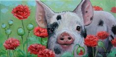 "Joy Campbell | OIL | ""Poppie Piggie"""