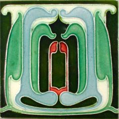 "Hard to find Abstract Art Nouveau design from Henry Richards c1902/5 see the book ""Art Nouveau Tiles with more Style""tile reference number 927.It is a design that well worth a second look."