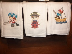 Arrgg Little pirate burp cloth set 3 by 4my4creations on Etsy, $12.00