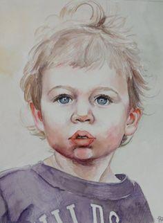 Custom Watercolor Portrait by HomemadeHeartland on Etsy