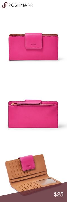 Emma RFID Fossil Wallet Cute wallet ❤️ the other sale didn't go through and was cancelled :/ never before used and you'll love it! Nice leather, no tears or scratches. Message me for any questions xoxo Fossil Bags Wallets