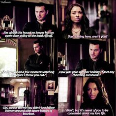 """Bonenzo flirting is so cute  The screencaps aren't out yet so enjoy Bonnie and Enzo!!  TVD 7x05"""