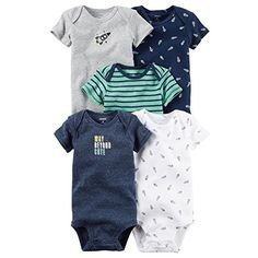 Carter's Baby Boys Multi-Pk Bodysuits 126g551, Navy, 3-6 Months Baby